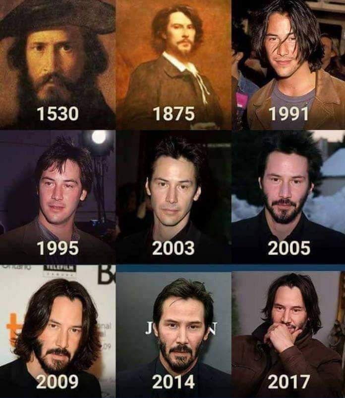 Keanu Reeves doesn't age
